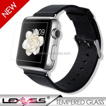 2015 hot-selling premium 0.15mm full size for apple watch tempered glass screen protector