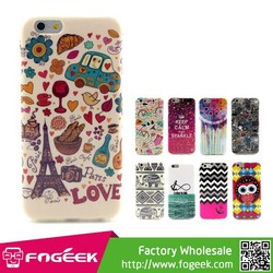 Fashionable Design Pattern TPU Case for iPhone 6 4.7inch Twelve Patterns Available