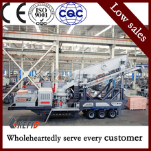 China hot sale used coal Mobile crusher equipment / coal mobile crushing for sale russia for sale with high technology