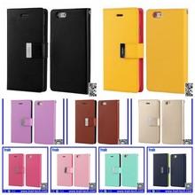 Mercury Phone Case for iPhone 6 Plus, Mercury Goospery Series Leather Flip Case for iPhone 6 Plus