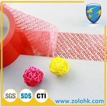 Tamper proof VOID tape, security tape partial transfer for sealing, customization accept