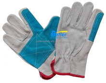 New industrial Cow Split Leather Driving gloves Double Palm