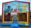 cheap price inflatable bouncy combo inflatable bounce house with character on show printed
