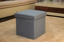 foldable storage stool box,fabric folded stool box, toy storage box