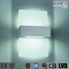 3 Years warranty Interior pure aluminium glass led up and down LED wall light / up and down LED wall light W3A0070