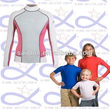 Los niños personalizado gard erupción camisa/manga camisas de natación