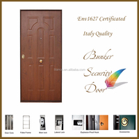 Class 3 Italy Type PVC Outer Burglar Proof Security Door