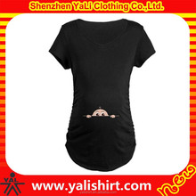 free shipping custom made screen printed funny high quality summer short sleeves, wholesale maternity clothes