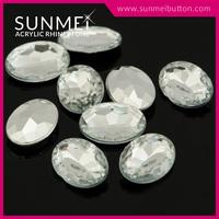 High Quality Wholesale Oval Pointback Acrylic Crystal Rhinestones