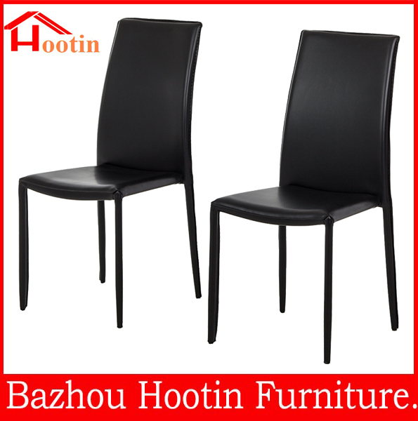 High Quality Black Leather Master Chair For Dining Room