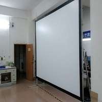 Factory wholesale portable different size fast screen with flight case/4:3,150'inch
