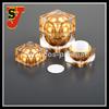 2015 popular type plastic acrylic cream jar, yellow color