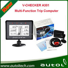 V-CHECKER A301 Multi-Function Trip Computer which helps users to quickly access to vehicle trouble code information and status