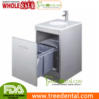 GZ001C Phoenix Stone Table Top Stainless Steel Medical Dental cabinet, with Ashbin,Sink, 495*495*830mm,dental cabinets supply