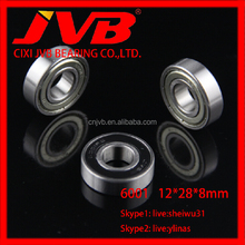 6001ZZ Deep Groove Ball Bearing 6001ZZ 12*28*8mm for motorcycle bearing
