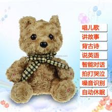Fornecimento de fábrica OEM personalizado de alta qualidade de som e gravador de brinquedo de pelúcia teddy bear