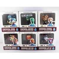 "Game figure 6pcs LOL League of Legends Annie Amumu Lee sin Collectibe Cute 3"" Action Figure"