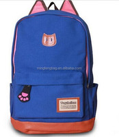 Campus Girl Women Cartoon Cat Ear Shoulder Bag Backpack Schoolbag Women Canvas Backpacks Travel Hiking Bags Rucksack