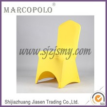 cheap gold spandex folding chair covers/wholesale wedding removable dining chair covers