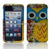 Yellow Blue Owl Premium Design Protector Hard Cover Case Compatible for Apple Iphone 5 (AT&T, VERIZON, SPRINT)