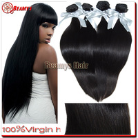 wholesale price 34 inch 3 pieces/set unprocessed natural color peruvian straight the virgin hair fantasy