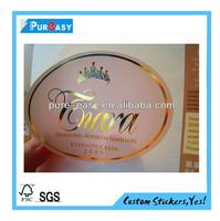 Crown logo gold foil wine label