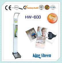 Multi- ultrasónico funcional de altura peso bmi electrónico altura y peso de las máquinas de medición