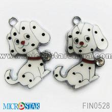 Double 11 wholesale enamel charm pendant fit bracelet or key chain pendant