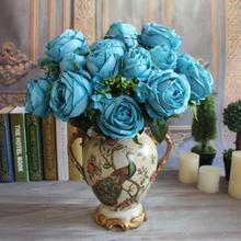 GNW blue rose plants sale wholesale artificial wedding giant flower decoration for weddings
