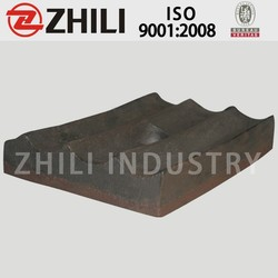 china supplier cement grinding mill spares short head cone crusher liner plate
