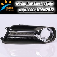 Factory Flexible Ultra Brightness Auto LED Daytime Running Light / LED DRL for N issan Tiida 2012
