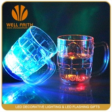 China factory logo printing plastic cups,lighted up glasses for drink,custom light up beer mugs cups