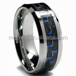 Tungsten Blue Carbon fiber Rings cheap cost and hotsale