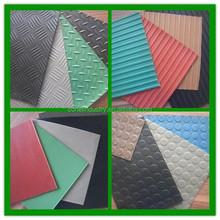 Colorful anti slip ribbed rubber flooring mat