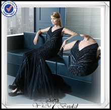 PP0232 Sexy Beaded Mermaid Navy Blue One Piece Girls Party Dresses