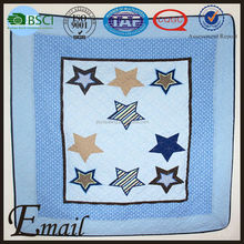 Kids bedroom cover sheet 110*130cm blue star print fancy bedspreads baby quilt