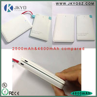1800mAh/2500mAh mobile phone power bank, external battery charger, mobile power