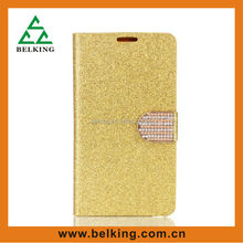 Bright Glitter With Diamond Stander Wallet Case For Apple iPhone 5s Special For Women