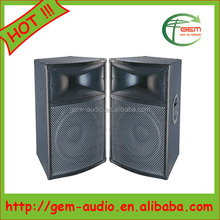 Professional active dual 15 inches speaker Powerful sound box speaker system Gem-613