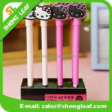 Personalized rubber cat shape ballpoint pen