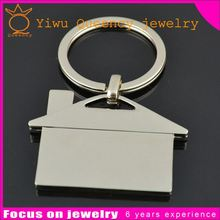 China supply wholesale blank custom metal house shape keychain