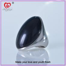 Maxfresh factory custom black gay men ring latest black stone gay men ring silver black gay men ring