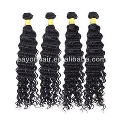 Wholesale 16 inch 5A cheap virgin peruvian deep wave hair