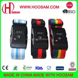Custom travel luggage belt with lock, PP/nylon/polyester strap, with TSA, 50*1650mm