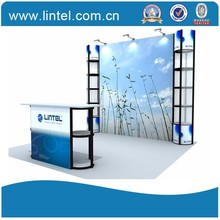 Lintel Display 10*10ft standard exhibition booth modular exhibition booth LT-ZH007