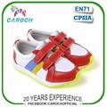 Patchwork design crianças sapatasdesportivos fechamento de velcro de couro genuíno criança tênis c-54007