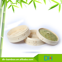 Cheap food steamers Chinese commercial bamboo steamer basket Wholesale