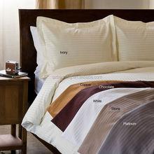 Hotel Collection 300TC Brand New Dobby Stripe 3pc Duvet Set 100%Egyptian Cotton