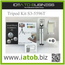 AtoB ASHUTB Tripod Kit S3-5596T Bluetooth mini tripod with phone holder and Bluetooth shutter control for selfie