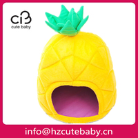 pineapple shape indoor dog house bed